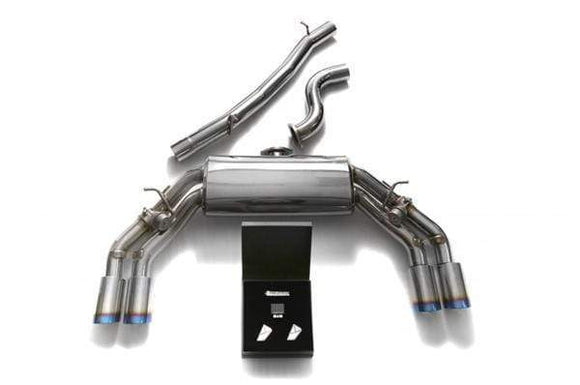 ARMYTRIX Stainless Steel Valvetronic Catback Exhaust System Quad Chrome Tips Audi TTS Quattro MK3 8S 2.0 TFSI 15+