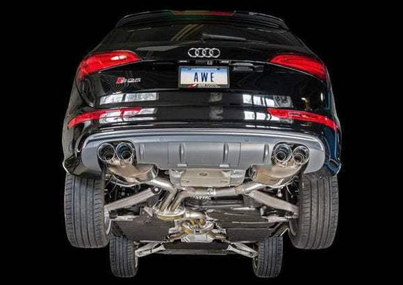 AWE Audi SQ5 3.0T Touring Edition Exhaust- Chrome Tips