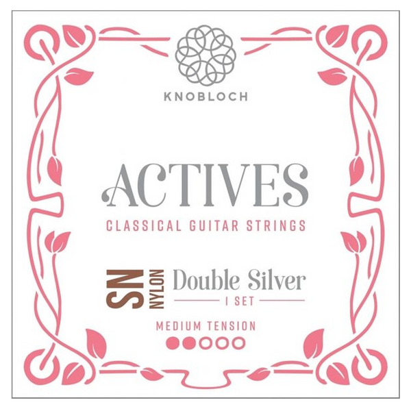 Cuerdas Guitarra Clásica Knobloch Actives Double Silver SN Nylon Set Medium Tension 300ADN