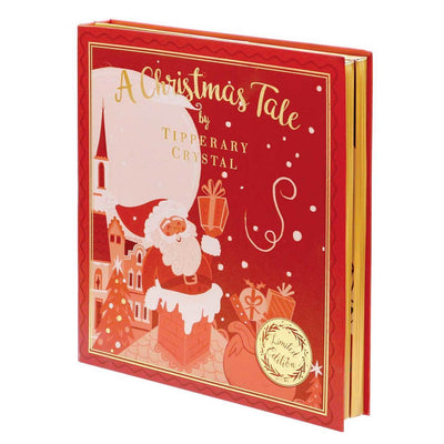 TIPPERARY CRYSTAL Red Christmas Story Book Set of 4 Decorations. - R. Mc Cullagh Jewellers