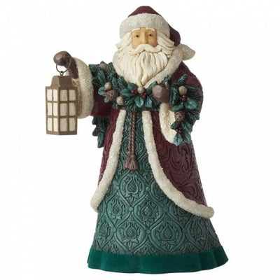 Walk In The Light (Santa with Garland and Lantern Figurine) - R. Mc Cullagh Jewellers