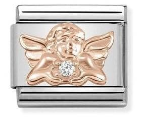 430302-17  Symbols  CZ 17 Angel of Family - R. Mc Cullagh Jewellers