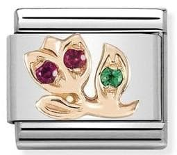 430305-16  Symbols  CZ 16 RED tulip - R. Mc Cullagh Jewellers