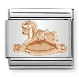 430106-15  RELIEF SYMBOLSgold  15 Rocking Horse - R. Mc Cullagh Jewellers