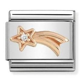 430305-21  Symbols  CZ 21 Shooting Star with White CZ - R. Mc Cullagh Jewellers