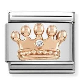 430305-24  Symbols  CZ 24 Crown with White CZ - R. Mc Cullagh Jewellers