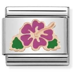 430202-04 Link SYMBOLS steel enamel and gold 375 - R. Mc Cullagh Jewellers
