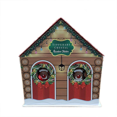 Tipperary Crystal Christmas Decoration set of 2 Reindeer Stables - R. Mc Cullagh Jewellers