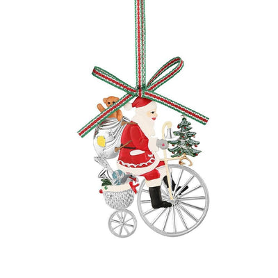 Santa on Penny Farthing Bicycle - R. Mc Cullagh Jewellers