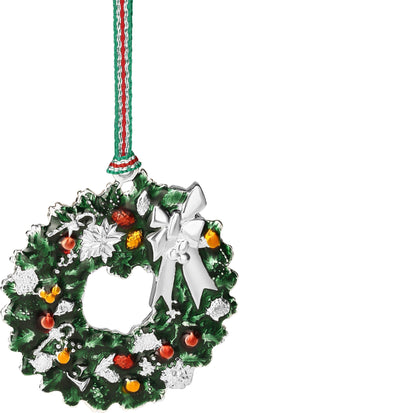 Christmas Wreath with Bow Hanging Decoration - R. Mc Cullagh Jewellers