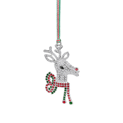 Reindeer with Bow Hanging Decoration - R. Mc Cullagh Jewellers
