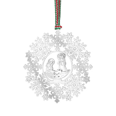 Snowflake with Nativity Decor - R. Mc Cullagh Jewellers