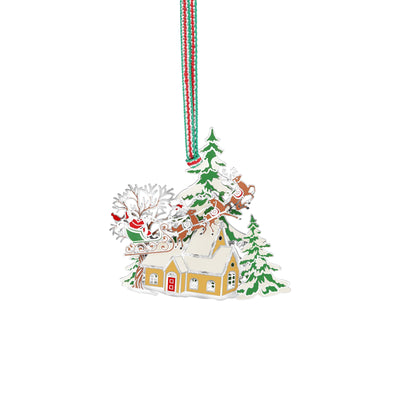 Santa and Sleigh Scene Hanging Decoration - R. Mc Cullagh Jewellers
