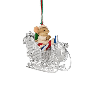Christmas Mouse in Sleigh - R. Mc Cullagh Jewellers