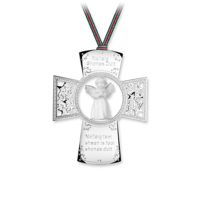 Cross with Angel Ornament - R. Mc Cullagh Jewellers