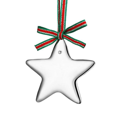 Silverplate Star with Clear Stone - R. Mc Cullagh Jewellers