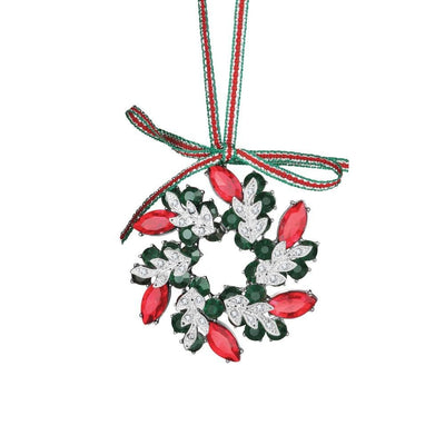 Wreath Decoration Coloured Stones - R. Mc Cullagh Jewellers