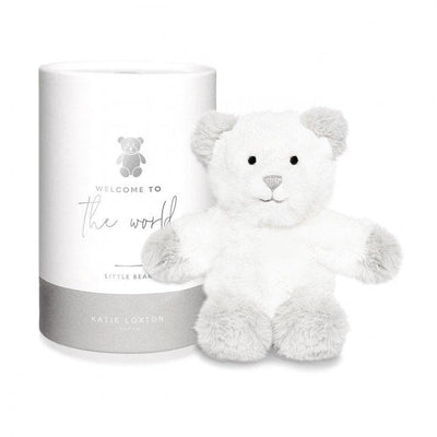Katie Loxton BEAR BABY TOY | WELCOME TO THE WORLD | GREY - R. Mc Cullagh Jewellers