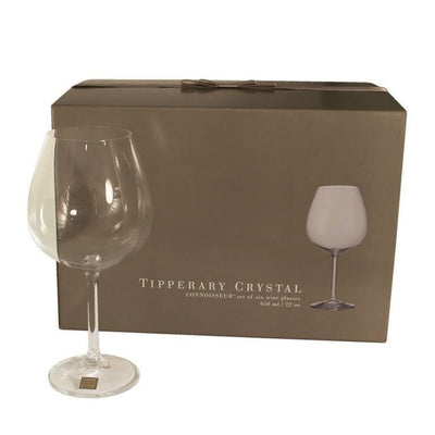 TIPPERARY CRYSTAL Connoisseur Set of 6 Wine Glasses 650ml - R. Mc Cullagh Jewellers