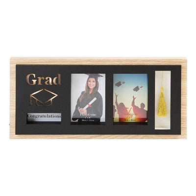 "4"" X 6"" - GRADUATION WOODEN LED DOUBLE PHOTO FRAME - R. Mc Cullagh Jewellers"