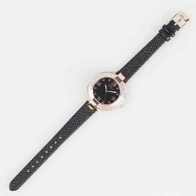 Guinness Ladies Watch Black Strap - R. Mc Cullagh Jewellers