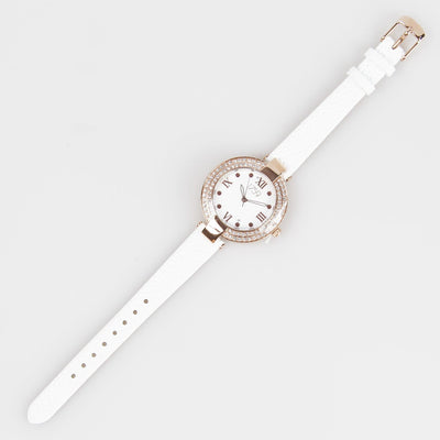 Guinness Ladies Watch White Strap - R. Mc Cullagh Jewellers