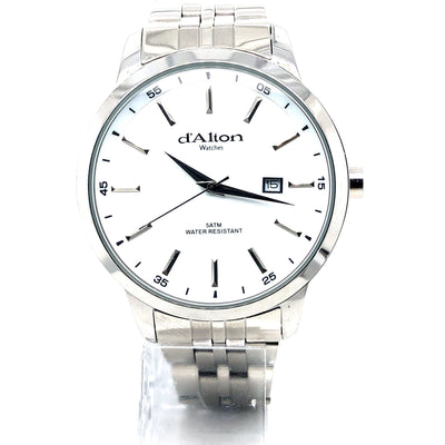 D'alton Gents watch white dial on a stainless steel bracelet - R. Mc Cullagh Jewellers