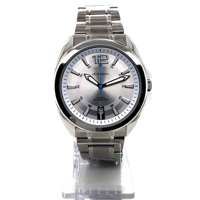 D'alton Gents watch with a silver dial and blue seconds hand - R. Mc Cullagh Jewellers
