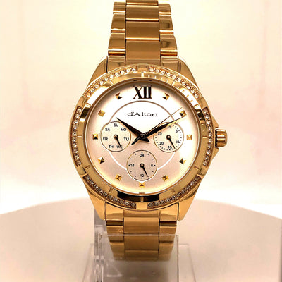 D'alton ladies watch gold plated multi dial - R. Mc Cullagh Jewellers