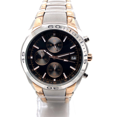 D'alton Gents Chronograph two tone rose watch - R. Mc Cullagh Jewellers
