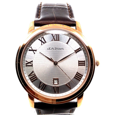 D'alton Gents watch with rose gold trim - R. Mc Cullagh Jewellers