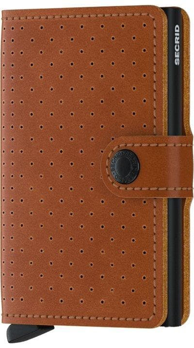 Secrid Miniwallet Perforated Cognac - R. Mc Cullagh Jewellers