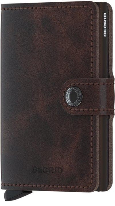 Secrid Miniwallet Vintage Chocolate - R. Mc Cullagh Jewellers