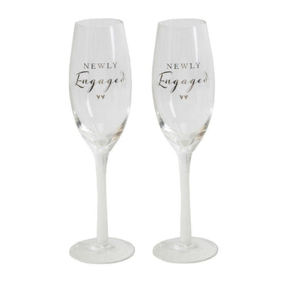 AMORE BY JULIANA® CHAMPAGNE FLUTE SET - NEWLY ENGAGED - R. Mc Cullagh Jewellers