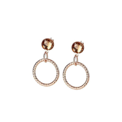 Wish Twist Earrings with Topaz Stones - R. Mc Cullagh Jewellers