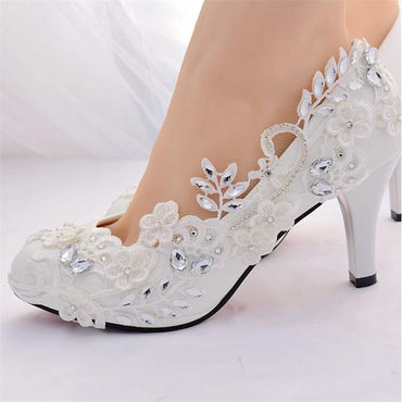 Crystal princess Wedding High Heels