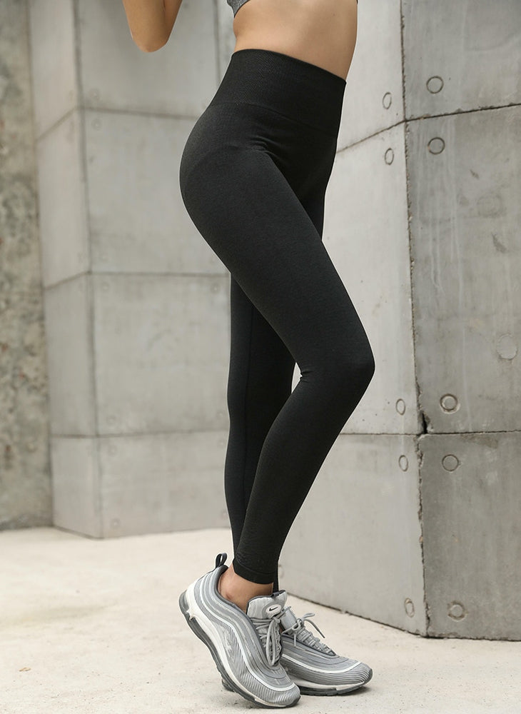High Waist Push Up Hip Seamless Yoga Leggings