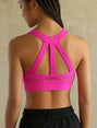 High Impact Running Push Up Sports Bra
