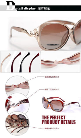 Polarized Rhinestone Women Sunglasses