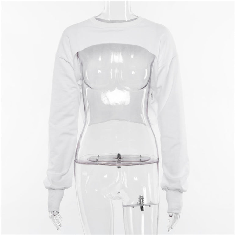 Gym Crop Top Short Sweatshirt Breathable Coat