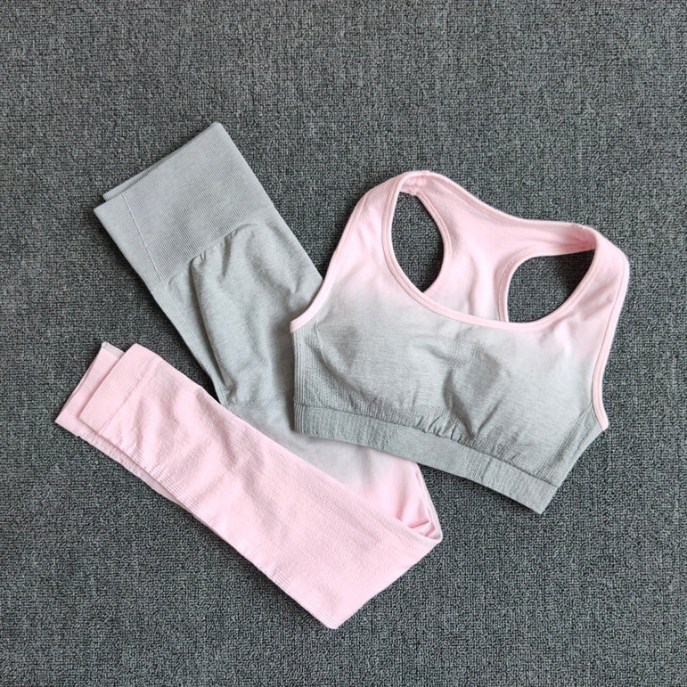 Gym Set Clothes Seamless Yoga Set Sports Bra and Leggings