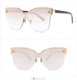 Cat Eye Bee Rimless Sunglasses