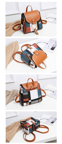 Women Leather Retro Bagpack