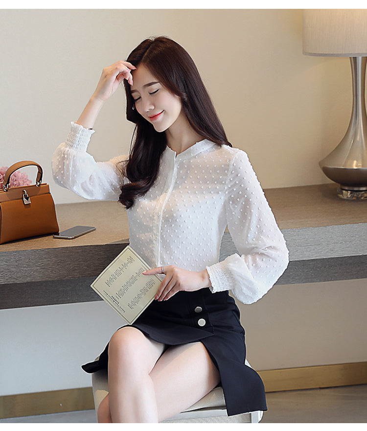 Long Sleeved New Arrived Women Blouse