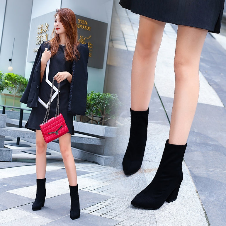 Sweet Wild Comfortable Shallow Mouth pointed Boots