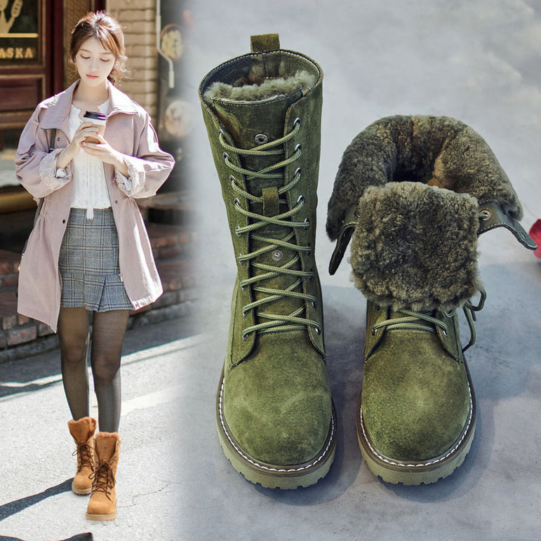 Leather Snow Winter Boots