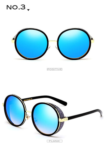 Luxury Frame Round Sunglasses