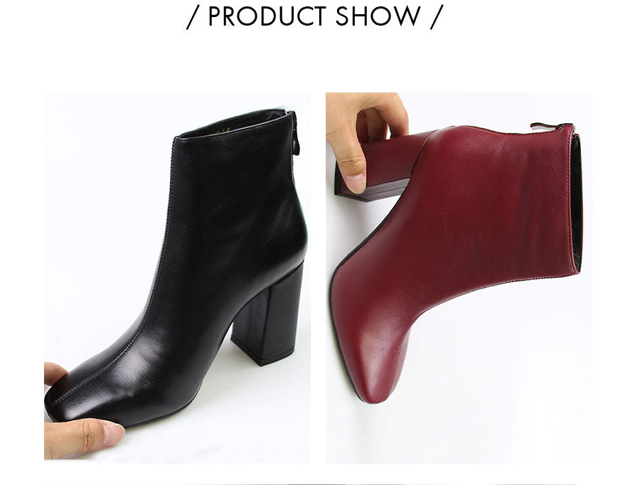 High Heels Leather Footwear Ankle Boots
