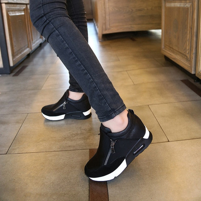 Casual Flats Trainers Height Increasing Breathable Sneakers