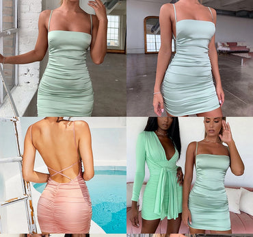 Backless Cross Bandage Bodycon Party Dress